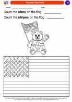 Social Studies - Kindergarten - Worksheet: National Symbols