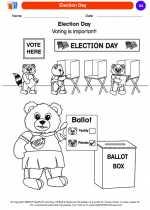 Social Studies - Kindergarten - Worksheet: Election Day
