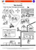 Social Studies - Kindergarten - Worksheet: Map Symbols