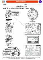 Social Studies - Kindergarten - Worksheet: Mapping Tools