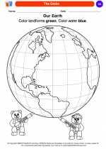 Social Studies - Kindergarten - Worksheet: The Globe