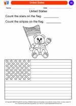 Social Studies - Kindergarten - Worksheet: United States