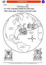 Social Studies - Kindergarten - Worksheet: Columbus Day