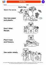 Social Studies - Kindergarten - Worksheet: Earth Day