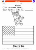 Social Studies - Kindergarten - Worksheet: Flag Day