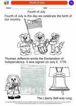 Social Studies - Kindergarten - Worksheet: Fourth of July