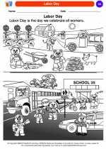 Social Studies - Kindergarten - Worksheet: Labor Day