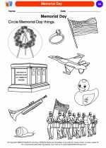 Social Studies - Kindergarten - Worksheet: Memorial Day