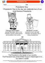 Social Studies - Kindergarten - Worksheet: Presidents Day