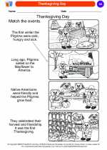 Social Studies - Kindergarten - Worksheet: Thanksgiving Day