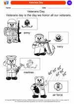 Social Studies - Kindergarten - Worksheet: Veterans Day