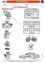 Social Studies - Kindergarten - Worksheet: City Neighborhood