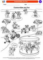 Social Studies - Kindergarten - Worksheet: Communities are Fun