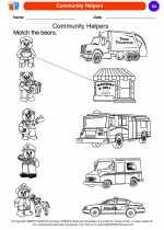 Social Studies - Kindergarten - Worksheet: Community Helpers