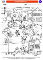 Social Studies - Kindergarten - Worksheet: Farming Community