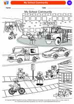 Social Studies - Kindergarten - Worksheet: My School Community