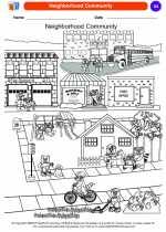 Social Studies - Kindergarten - Worksheet: Neighborhood Community