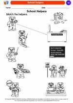 Social Studies - Kindergarten - Worksheet: School Helpers