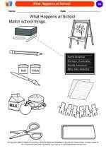 Social Studies - Kindergarten - Worksheet: What Happens at School