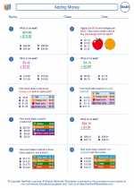 Mathematics - Third Grade - Worksheet: Adding Money