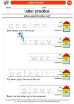 English Language Arts - Kindergarten - Worksheet: Letter Practice