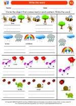 English Language Arts - Kindergarten - Worksheet: Write the word