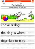 English Language Arts - Kindergarten - Worksheet: Capital Letters