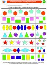 Mathematics - Kindergarten - Worksheet: Ordering Numbers and Objects by Size