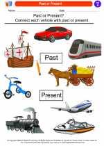 Social Studies - First Grade - Worksheet: Past or Present