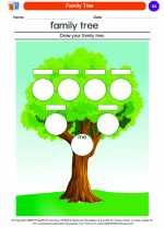 Social Studies - Kindergarten - Worksheet: Family Tree