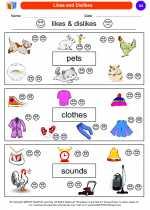 Social Studies - Kindergarten - Worksheet: Likes and Dislikes