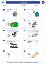 Social Studies - Fifth Grade - Worksheet: Urbanization