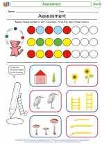 Mathematics - First Grade - Worksheet: Assessment