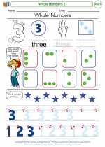 Mathematics - Kindergarten - Worksheet: Whole Numbers 3