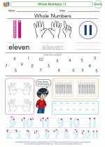 Mathematics - Kindergarten - Worksheet: Whole Numbers 11