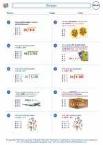 Mathematics - Sixth Grade - Worksheet: Division