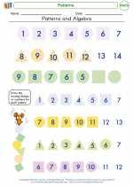 Mathematics - Kindergarten - Worksheet: Patterns