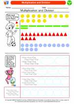 Mathematics - Third Grade - Worksheet: Multiplication and Division