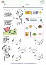 Mathematics - First Grade - Worksheet: Mass