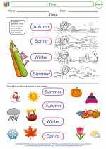 Mathematics - First Grade - Worksheet: Time
