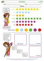 Mathematics - Kindergarten - Worksheet: Counting