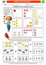 Mathematics - First Grade - Worksheet: Addition and Subtraction