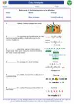 Mathematics - Fourth Grade - Vocabulary: Data Analysis