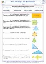 Mathematics - Sixth Grade - Vocabulary: Area of Triangles and Quadrilaterals