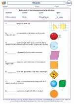 Mathematics - First Grade - Vocabulary: Shapes