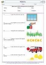 Mathematics - First Grade - Vocabulary: Patterns