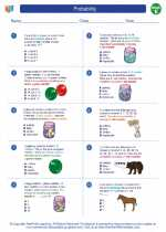 Mathematics - Fifth Grade - Worksheet: Probability