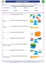 Mathematics - Second Grade - Vocabulary: Comparing Objects