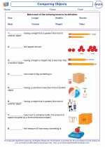 Mathematics - Second Grade - Vocabulary: Comparing Objects