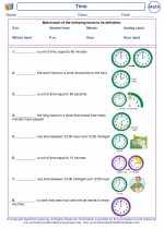 Mathematics - Second Grade - Vocabulary: Time
